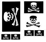 Piratenflagge Aufkleber Set