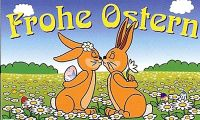 Frohe Ostern Fahne / Flagge 90x150 cm (Ostern Nr.3)