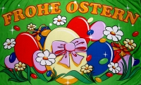 Frohe Ostern Fahne / Flagge 90x150 cm (Ostern Nr.7)