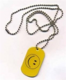 Smile Dog Tag 3x5 cm (70 cm Kugelkette)