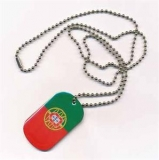 Portugal Dog Tag 3x5 cm (70 cm Kugelkette)