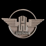 Hanomag Logo Pin ca. 30x20 mm (Trecker Pin)