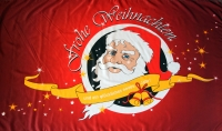 Frohe Weihnachten Nikolaus Fahne / Flagge 90x150 cm (rot)