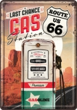 Route 66 Gas Station Blechpostkarte 10 x 14 cm