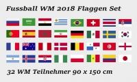 Wm 2018 Fahnen Flaggen Set 90x150 Cm 32 Fahnen