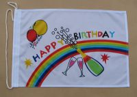 Happy Birthday Fahne / Flagge 27x40 cm