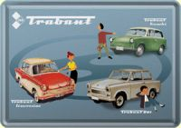 Trabant Collage Blechpostkarte 10 x 14 cm