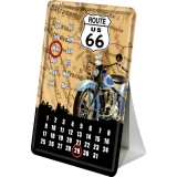 Route 66 Kalender Blechpostkarte 10 x 14 cm