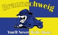 Braunschweig Fahne 90x150 cm You'll Never Work Alone (Bulldogge)