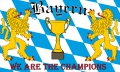 Bayern Fahne / Flagge 90x150 cm We are the Champions