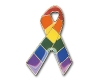 Rainbow Ribbon Pin