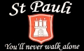 St. Pauli Fahne / Flagge 90x150 cm You´ll never walk alone