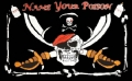 Piraten Fahne / Flagge 90x150 cm NAME YOUR POISON