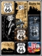 Route 66 Map Magnet Set (9 Teilig)