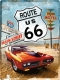 Route 66 Red Car Blechschild 30 x 40 cm
