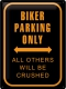 Biker Parking Only Blechschild 30 x 40 cm