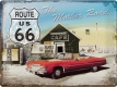 Route 66 The Mother Road Blechschild 30 x 40 cm