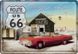 Route 66 The Mother Road Blechpostkarte 10 x 14 cm