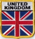 United Kingdom Aufnäher in Wappenform 7 x 6,5 cm