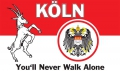Köln (You'll Never Walk Alone) Fahne / Flagge 90x150 cm